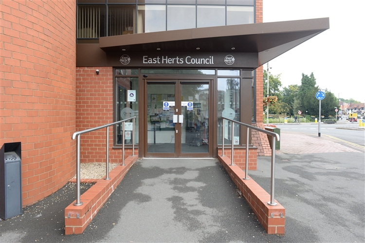 East Herts Council Charringtons entrance